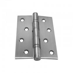 5x heavy-duty butt hinge, long stainless steel A2 100X75