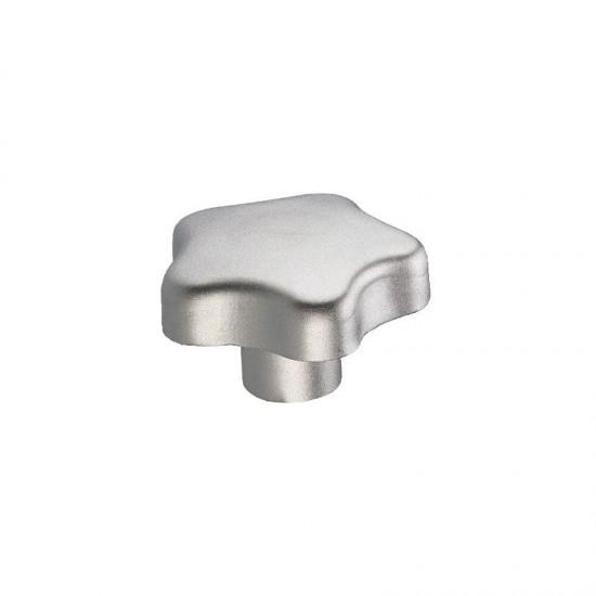 GN5334-60-M12-E Star knob; steel/steel; threaded hole