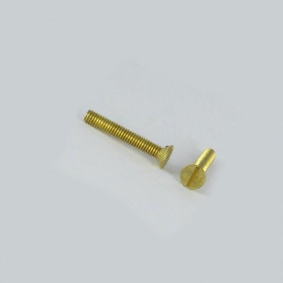 Brass machine screws 6X35 head slotted machine screws *110pc