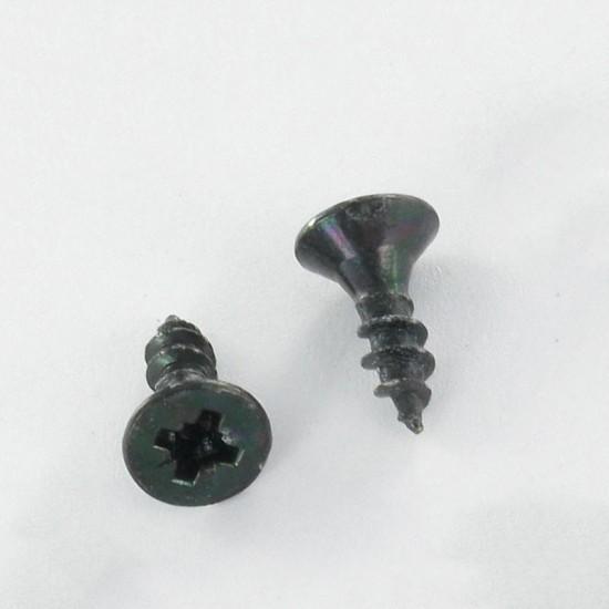 CHIPBOARD SCREW COUNTERSUNK HEAD POZI 1 2.5X10 Full THREAD BLACK ZINC PLAZATED   One-piece * 100