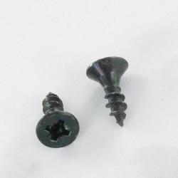 Particle Board Screws COUNTERSUNK HEAD POZI 2 4X20 Full Thread Black Chrome Plated Steel *100