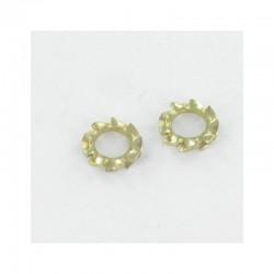 Locking washer type serrated external teeth AZ M10 Yellow Zinc VS-DIN6798A Mono*100