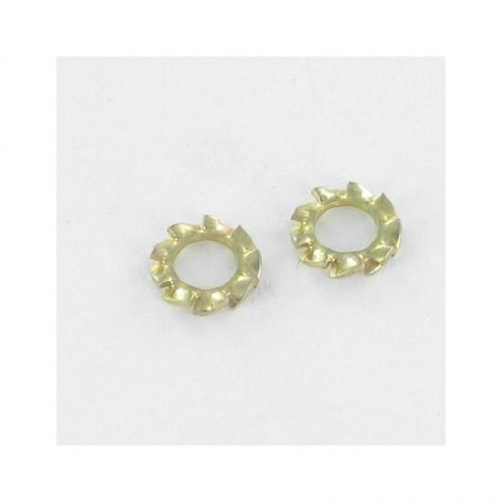Locking washer type serrated external teeth AZ M10 Yellow Zinc VS-DIN6798A|Mono*100