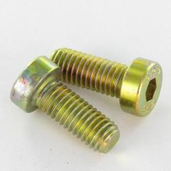 Machine screw head hexagonal head 2.5 4X12 Full thread 10.9 Fine head Yellow zinc DIN 7984 | One piece * 70