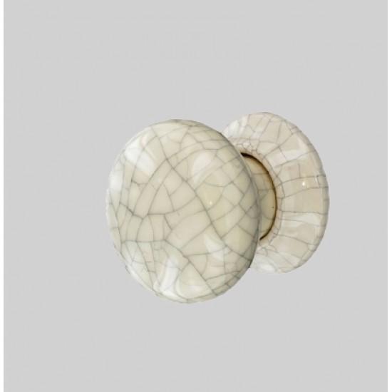 S3282 Ceramic Knob 60mm Cracked Cream Packing, 1pc