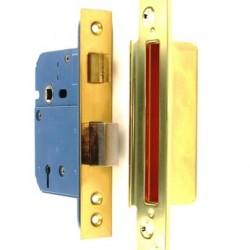 S1791 5-Lever Window Lock BS3621 Brass 63mm Set of 1