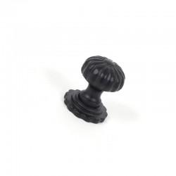 Black Cabinet Knob with Base - Large