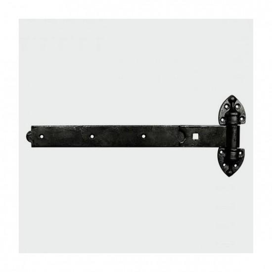 Pair of HRH600B heavy duty reversible hinges, black
